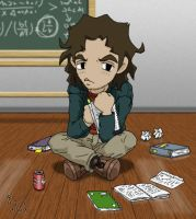 Chibi Charlie Eppes by mistress-samwise