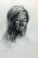 (D53)  untitled ball pen on paper 23.8 x 15.4  by ShinKwangHo