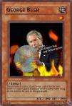 George Bush Yu-Gi-Oh card by eggmanrules