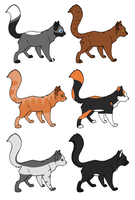 Point Cat Adoptables (Closed) by RosyKat-Adopts
