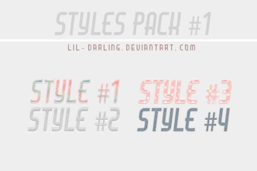 Styles Pack 1 by Lil-darling
