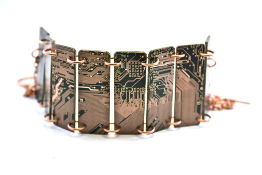 Circuit Board Cuff - 2 by jupiter-storm