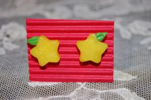 Paopu fruit earrings by knil-maloon