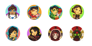 Korra Buttons by frozentofu