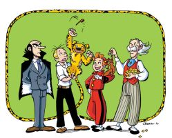 spirou and fantasio color by CROMOU