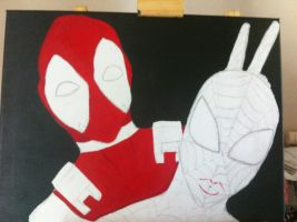 deadpool and spiderman (2 of 4) by sexyasfuck