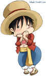 Chibi Luffy by h0saki