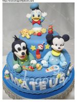Disney Babies Cake by dragonflydoces