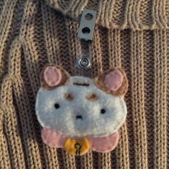 Bee and Puppycat Felt Badge by RosaliSori