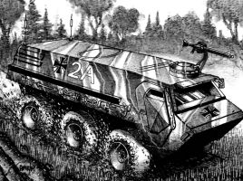 Armoured Car 2 by Frohickey