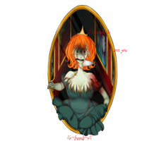 Girl in the mirror by Xx-kumaki-xX