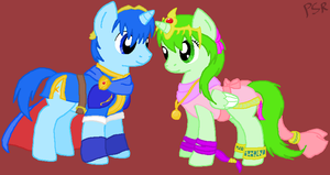Marth and Tiki Ponified by PechaScarfRider
