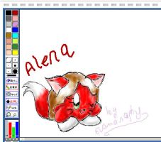 Alena in paintchat by Evomanaphy