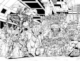 Transformers RID 13 Pgs 20 and 21 by glovestudios