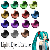 [MMD] Light Eye Textures by monobuni