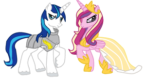 Princess Cadence and Shining Armor by TheFluffyFoxeh