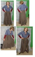 Western  steampunk skirt-WIP by FrockTarts