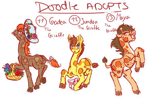 Doodle pony adopts adopts 5 CLOSED by Sarahostervig