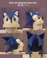 Sonic the Hedgehog Fleece Hat by LiliNeko