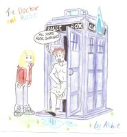 The Doctor and Rose by pigwigeon