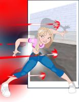 Supergirl dodge with BG by Tompach