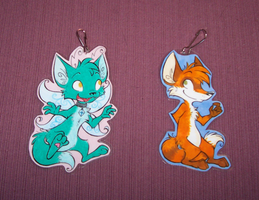 Keychain Commissions by RetroRodent