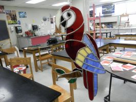 Stained Glass Scarlet Macaw by CavySpirit