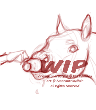 WIP swift drinking from a cup by AmaranthineRain