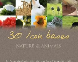 Icon bases: Nature and animals by Papageienfreak