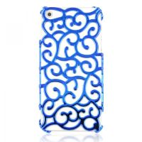 Hollow Flower Vine IPhone5 Case-blue by tracylopez
