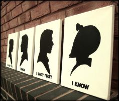 Han Shot First - Victorian Silhouette Stencil Art by RAMART79