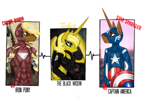 Commission - Avengers Time by NekoMellow