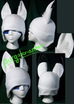 White Fox Fleece Hat by PurgatorianHeir