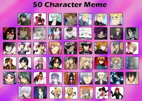 50 characters meme by Cheshireland
