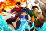 Badass Korra and co. by sypri