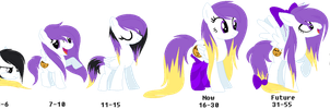REF: Purple Socks Age Progression by XteySockies