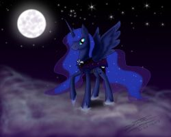 Princess Luna by EmeraldRainDragon