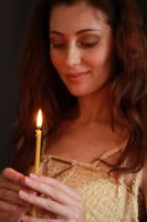 Christina with a candle by Hudojnica