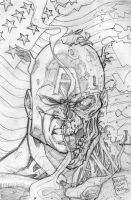 capain america zombie by warpath28