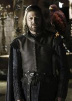 Ned Stark and His Daemon by LJ-Todd