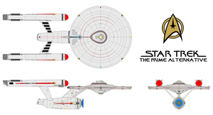 U.S.S. Enterprise Multi-view (Prime Alternative) by Gundam1701