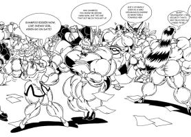 NABKO - MUSCLE RANMA 1/2 TRIPLE PAGE Commission 2 by Manthomex