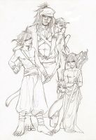 +Sketch+ Desert Family by Arai-Hime