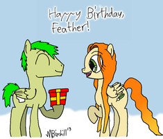 Happy Birthday, Feather! by Stormbadger