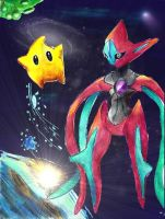 Deoxys and luma by Sulfura