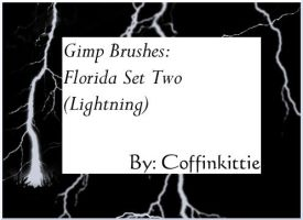 Gimp Brushes: FL- Lightning by coffinkittie