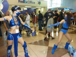 MK9 Kitana vs. MK2 Kitana by ruggala08