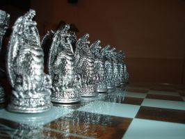 Silver Pawns by Nereja