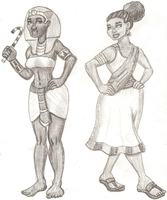 Hatshepsut and Cleopatra VII by DaBrandonSphere
