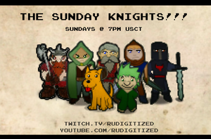 The Sunday Knights!!! 2nd Poster by RUdigitized